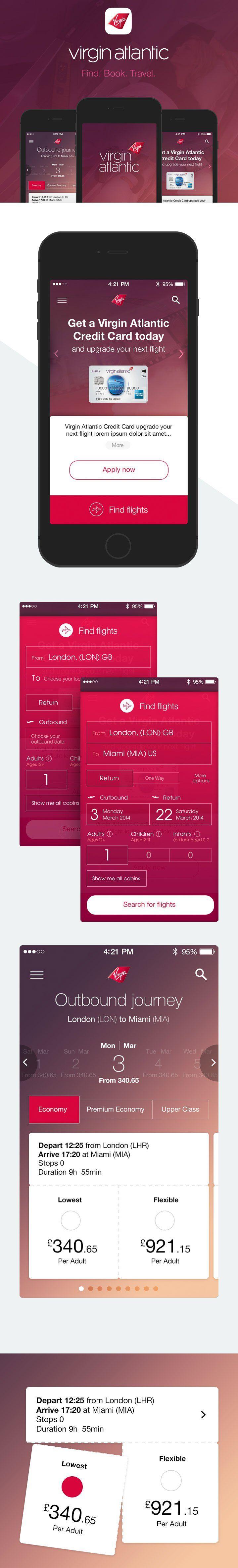 Virgin Atlantic app ios smartphone iphone booking reservation payment