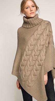 pinterest podzim pončo pletené - Hledat Googlem