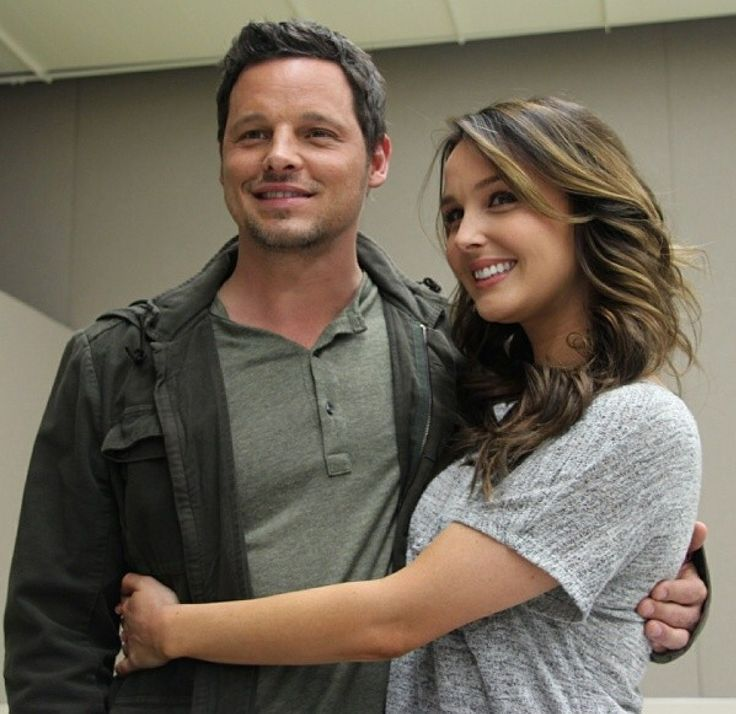 Justin Chambers and Camilla Luddington, Alex Karev and Jo Wilson from Grey's Anatomy //
