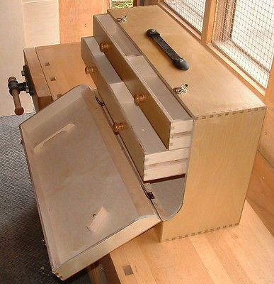 """Brand New Birch Ply Joiners two drawer Tool Box Size 28"""" x 15"""" x 9"""""""