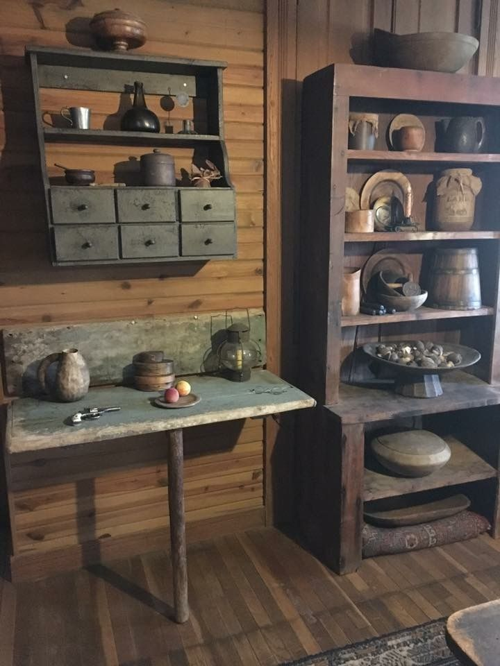 362 Best Images About Primitive Kitchens On Pinterest