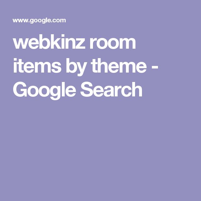 webkinz room items by theme - Google Search