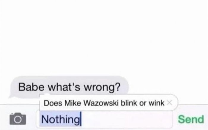Does Mike Wazowski blink or wink