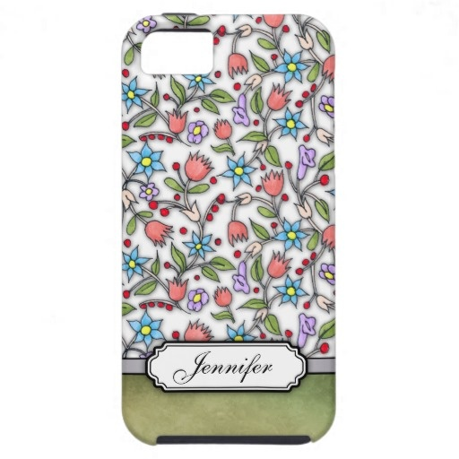 Personalizable Girly Floral Pattern iPhone 5 Cover $49.95 #floral #pattern #girly