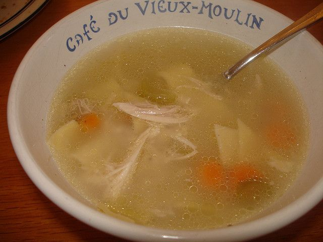 Uses for ice cubes - one of them: Skim excess fat off soups.