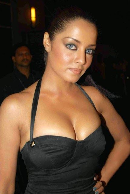 Bollywood Actress Celina Jaitley in Black Tight Low Neck One Piece Dress Gorgeous Pics