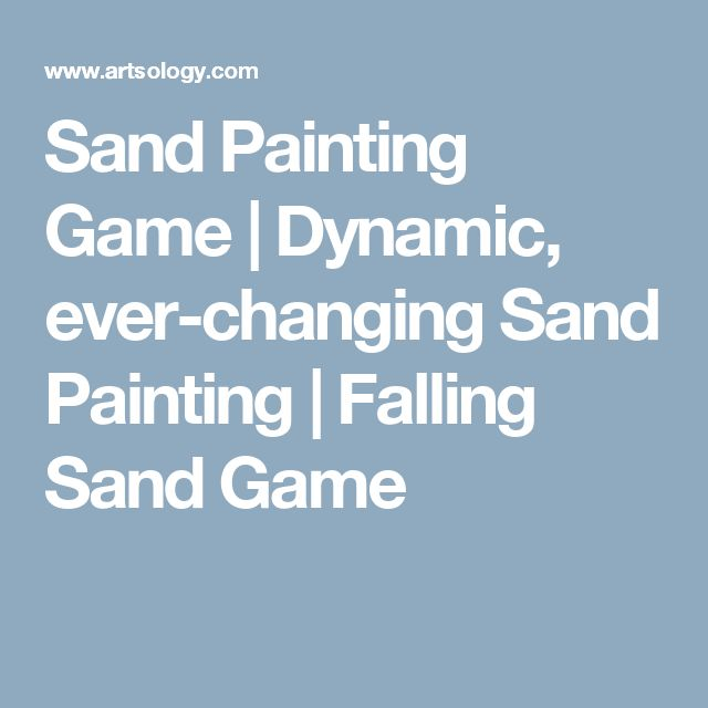 Sand Painting Game | Dynamic, ever-changing Sand Painting | Falling Sand Game