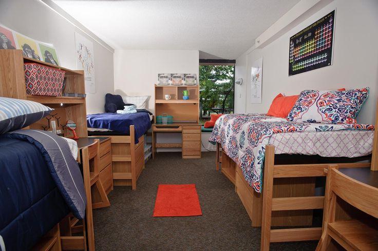 Image result for 1 room quad dorm room setup