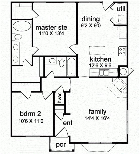 find this pin and more on small houses first floor plan - Floor Plans For Small Houses