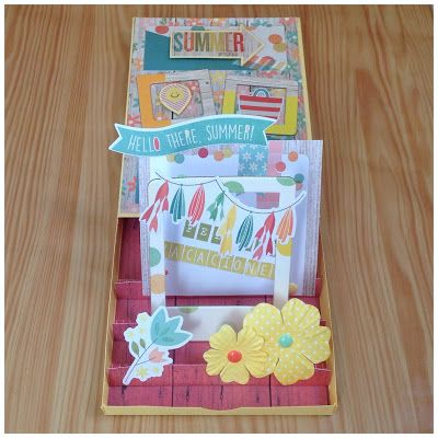 Tarjeta pop-up veraniega #scrapbooking #summercard #popupcard