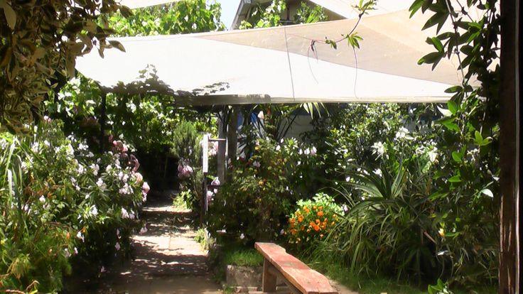 La cabaña jardín exterior.
