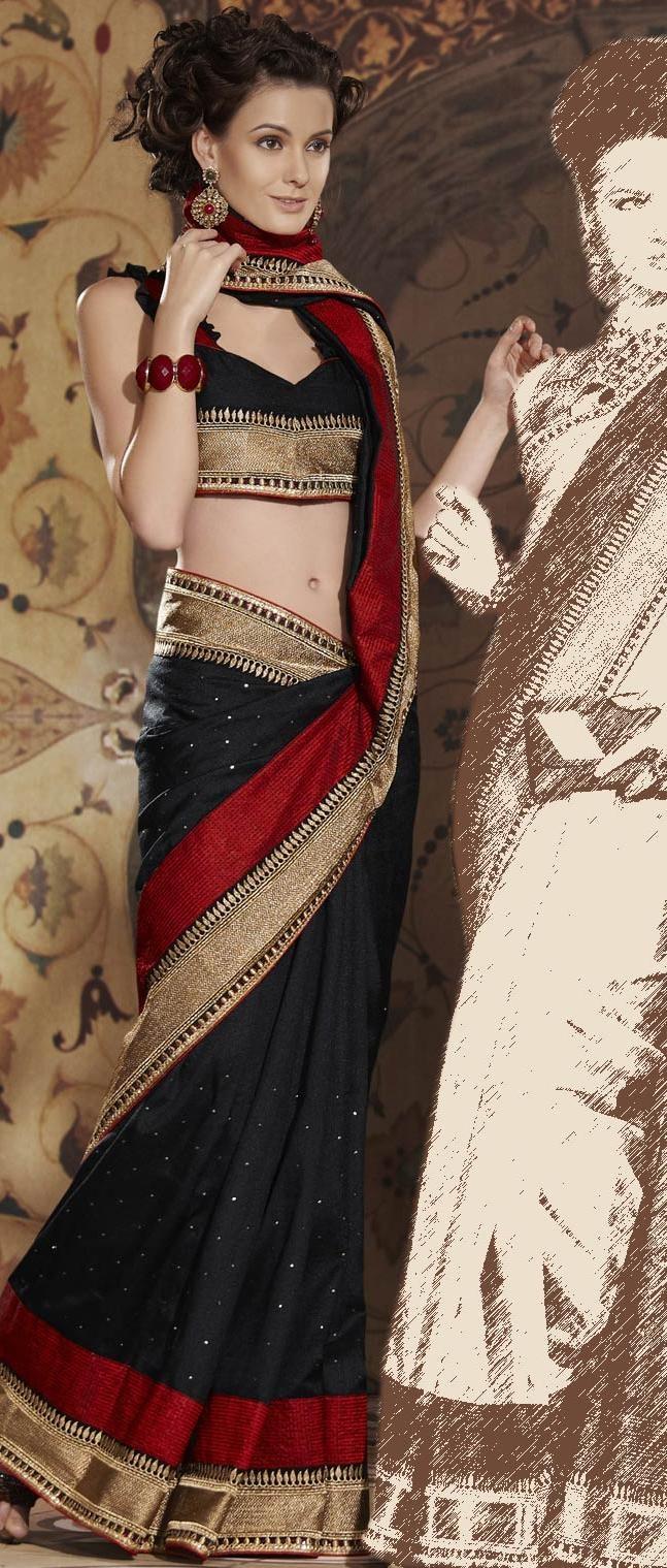 Black Art Matka Silk Saree With Blouse #saree #sari #blouse #indian #hp #outfit #shaadi #bridal #fashion #style #desi #designer #wedding #gorgeous #beautiful