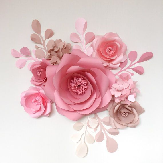 Paper Flowers - Giant Paper Flowers - Wedding Paper Flower Wall - Wedding Centerpiece Decor