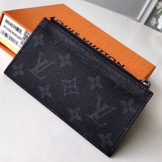 234cd72e25b Louis Vuitton Monogram Eclipse Canvas Coin Card Holder N62914 ...