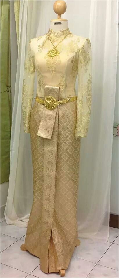 Thai wedding dress gold color