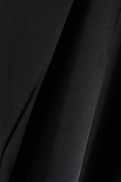 Helmut Lang - Lace-trimmed Satin Midi Dress - Black - x small