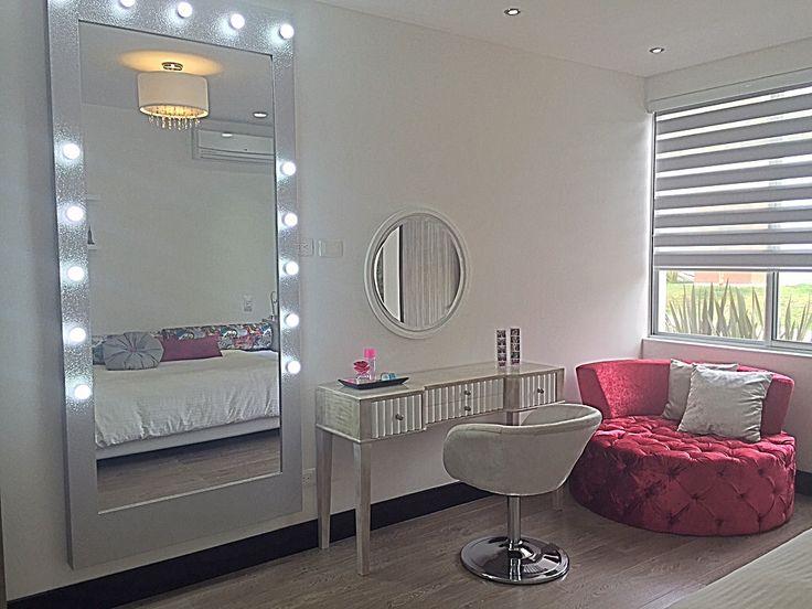 Girls bedroom design by: Elizabeth Arévalo E. Diseño & Decoración. #girls #bedroom #pink #silver