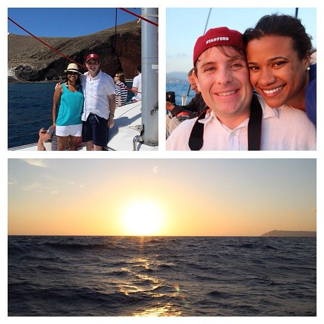 Sailing adventure take 2 (first day was too windy and rainy)! Beautiful weather for #santorinisailing