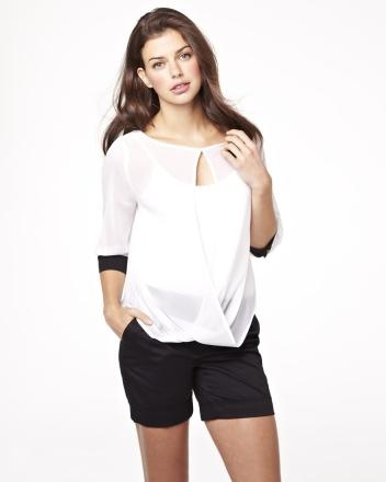 Cross-front chiffon blouse Summer 2013 Collection