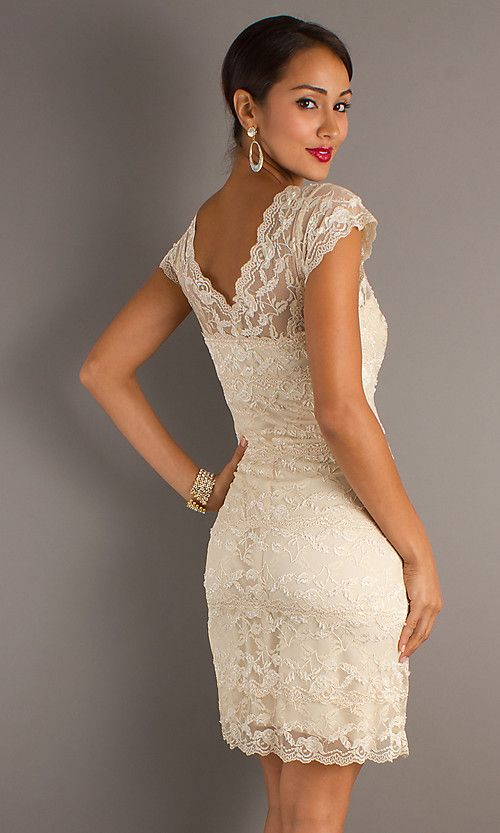 gorgeous lace dress for wedding reception