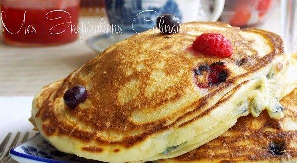 Pancakes au yaourt moelleux Pour le goûter d'aujourd'hui ma petite lylou m'a réclamé des pancakes...