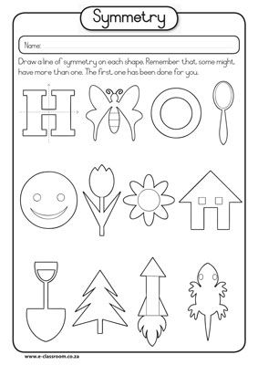 Symmetry worksheets for Gr 1 - Google Search
