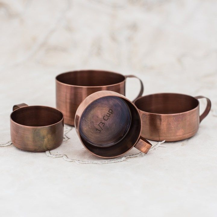 Copper measuring cups | The Lost and Found Department