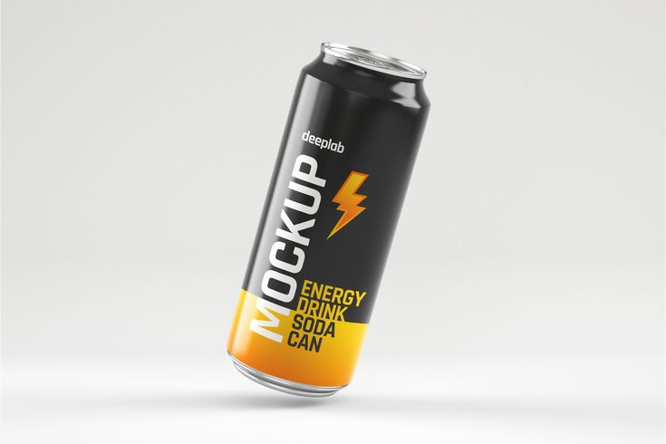 Metal Soda Can Mockup Set Energy Drink Can Drinks Soda Can