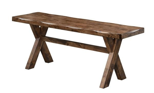 Alston Modern Knotty Nutmeg Soild Wood Dining Bench