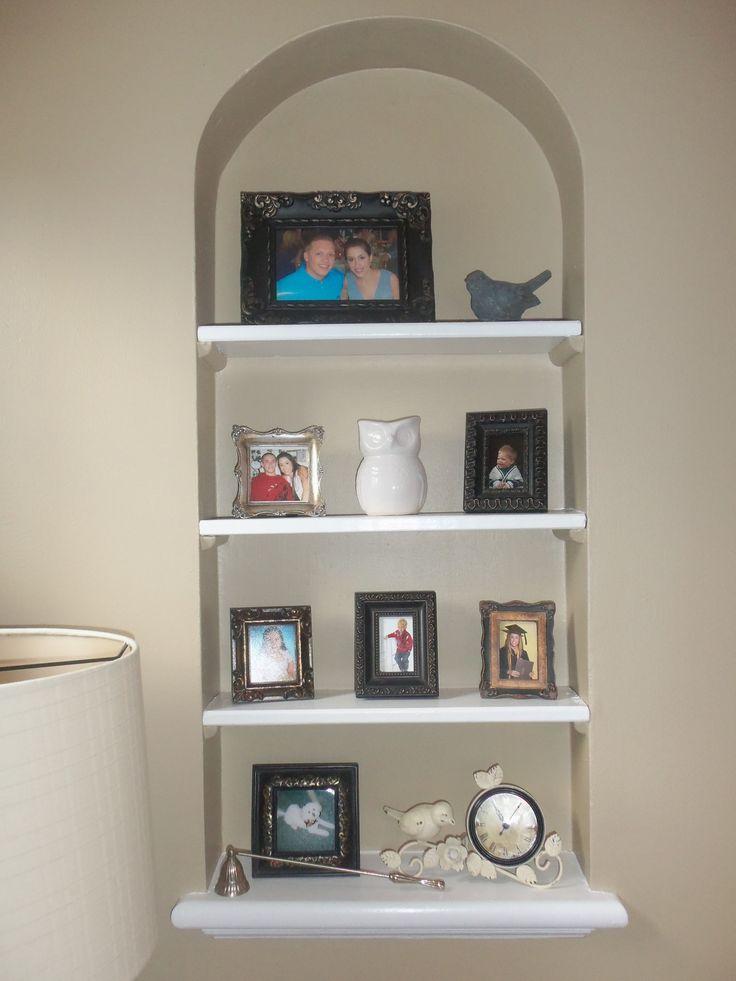 built in wall shelf home ideas pinterest. Black Bedroom Furniture Sets. Home Design Ideas