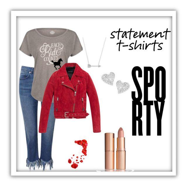 """#statementtshirt"" by rawal-sadhana on Polyvore featuring Miss Selfridge, Andrew Marc, Estella Bartlett, Vivienne Westwood and statementtshirt"