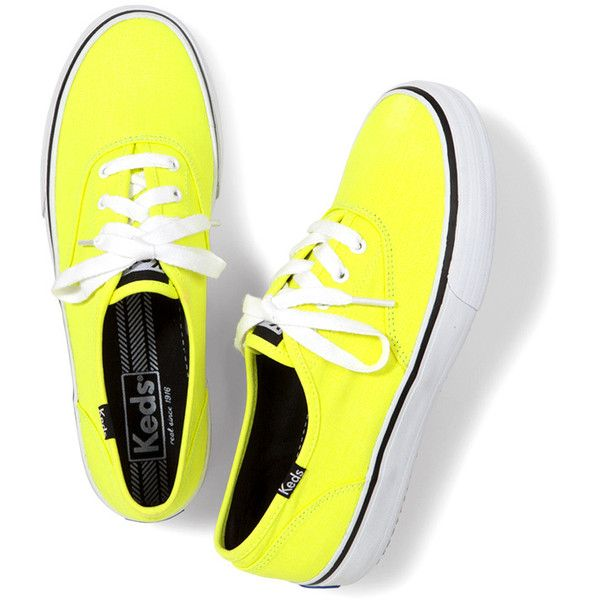 Keds Double Dutch Neon ($50) ❤ liked on Polyvore