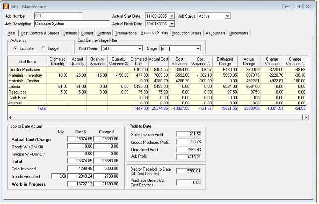 Jiwa ERP Accounting For Builders, Construction and Building Industry
