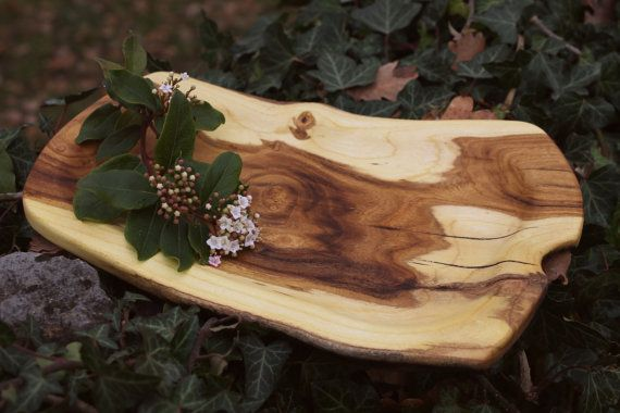 Rustic serving tray organic serving board by JaraKacaHandmade