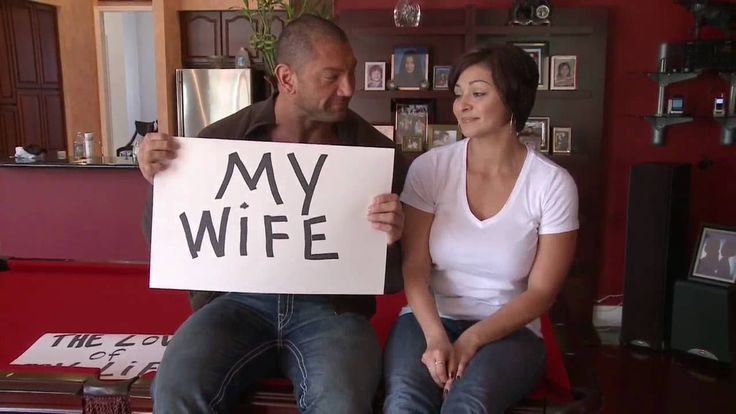 Dave Batista & his former wife Angie