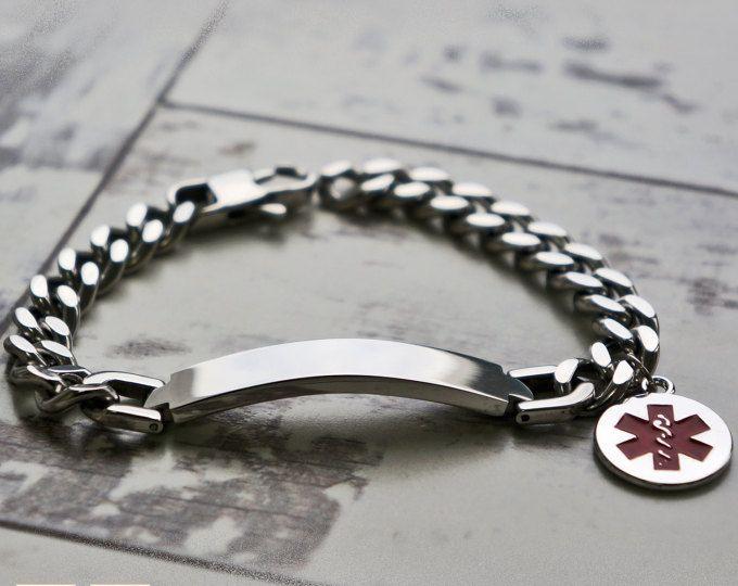 Men's Medical Alert Bracelet - Medical ID Bracelet - Emergency Bracelet