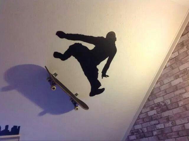Skateboard decoratie slaapkamer