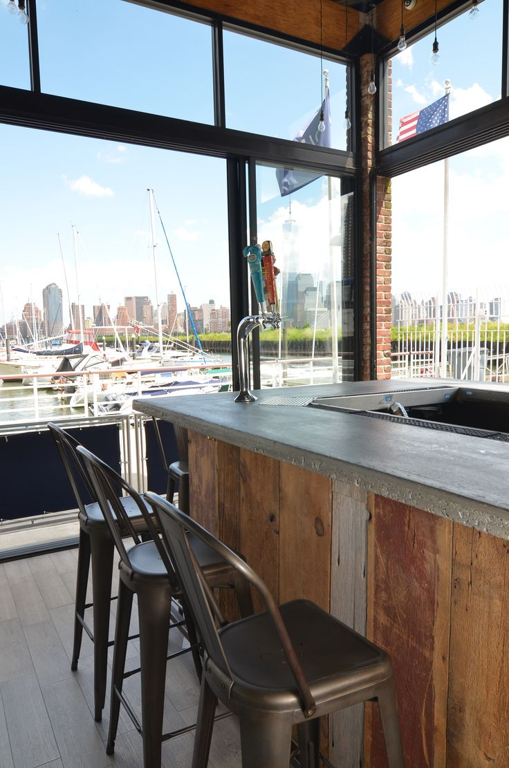 Rustic restaurant furniture -  Jersey City Restaurant We Supplied Our Reclaimed Wood Beams To