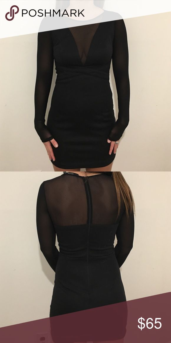 Black Going Out Dress Black going out dress with tons of sheer to make it more glamorous! Worn only once. Ark & Co Dresses Mini