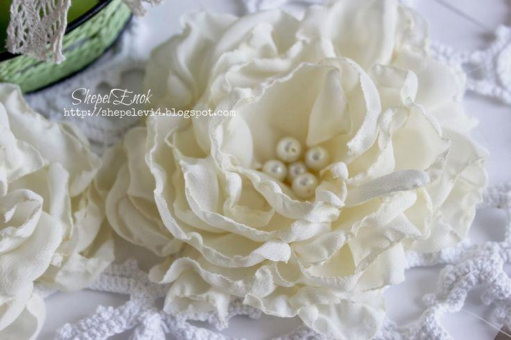 Скрапоголики: Шифоновые цветы - мастер-класс от Ольги-ШепелЁнок