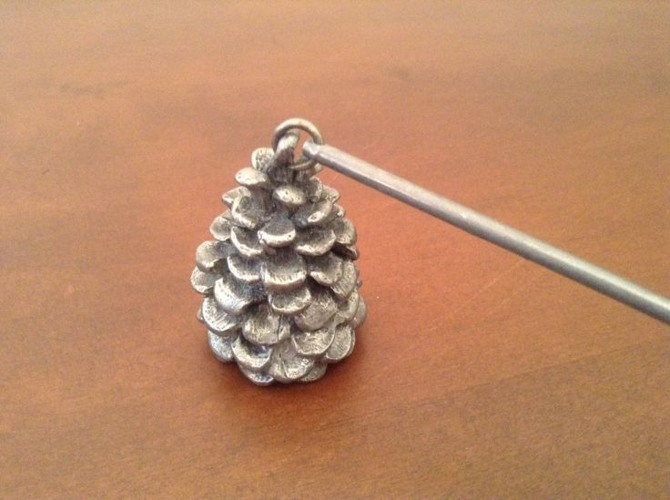 PINECONE CANDLE SNUFFER Vintage Pewter Candle Snuffer by CalypsosCrypt on Etsy