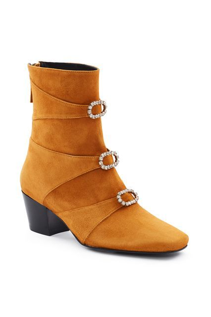 For the past few seasons, Dorateymur has consistently made ahead-of-the-curve shoes that still look cool for seasons to come. These boots are no different. Dorateymur Automatic Bran Suede Boots, $535, available at Opening Ceremony. #refinery29 http://www.refinery29.com/best-womens-ankle-boots#slide-9
