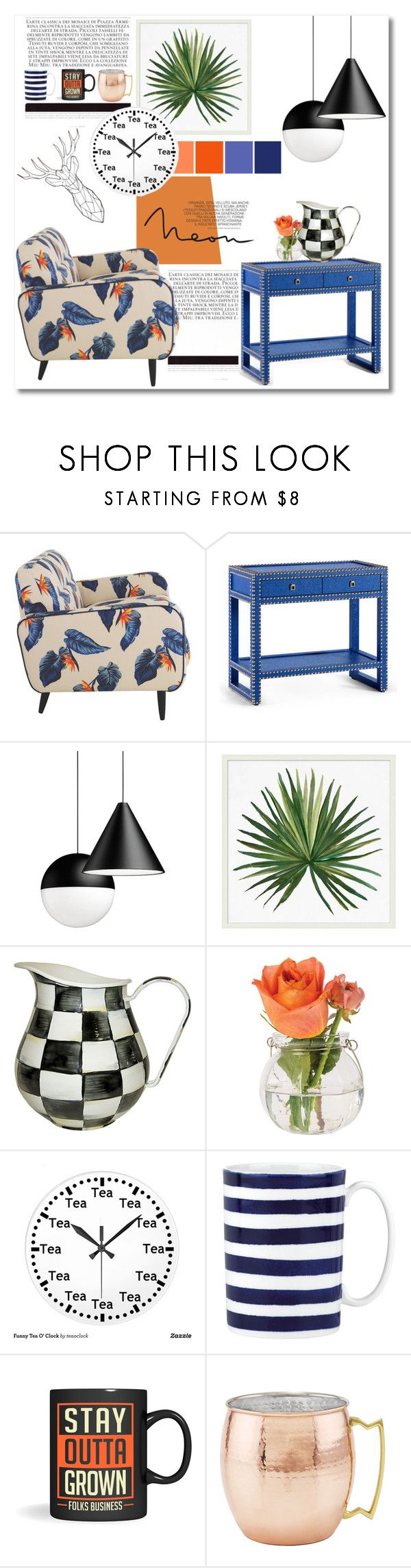 """Untitled #424"" by zalarupar ❤ liked on Polyvore featuring interior, interiors, interior design, home, home decor, interior decorating, House of Holland, Bungalow 5, Pottery Barn and MacKenzie-Childs"