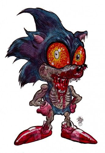 Cute Patrick Star Wallpaper Zombie Art Sonic The Hedgehog Rob Sacchetto S Zombie Art