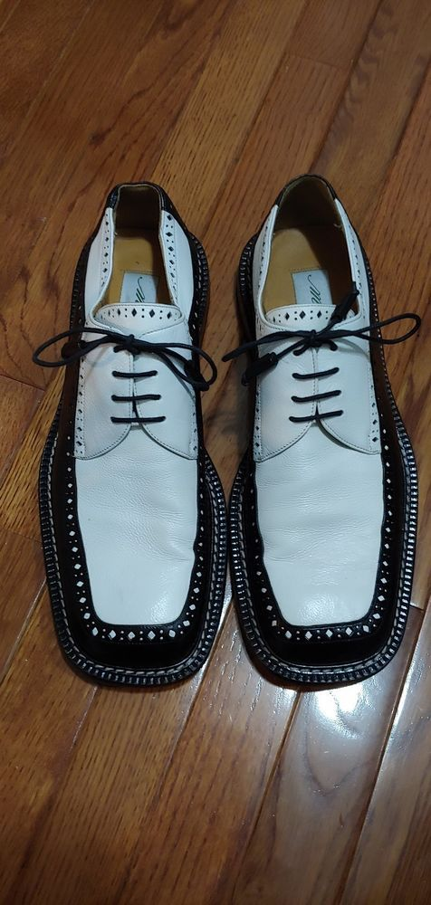14aa836dd Mezlan Vero Cuoio Black And White Size 11 Dress Shoe  fashion  clothing   shoes