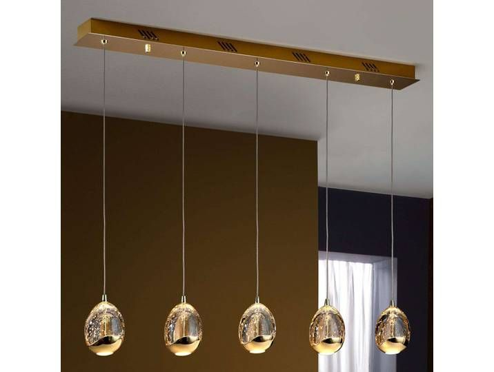Hangelampe Rocio 5fl Fernbedienung Gold Balken Gold Ceiling Light Ceiling Lights Gold Ceiling