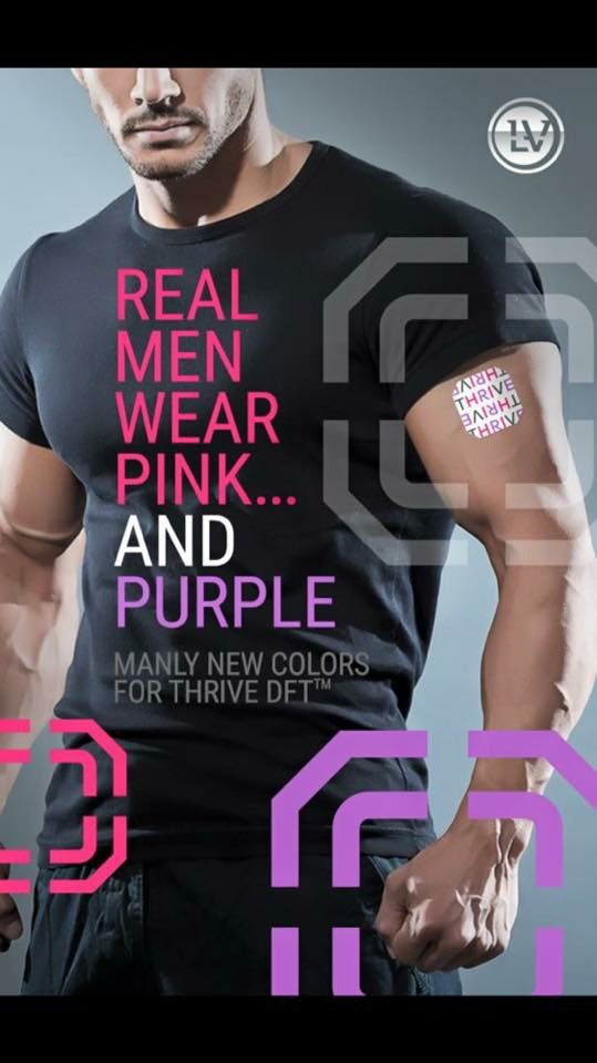 Real men wear pink & purple! http://www.makeithappennow.le-vel.com