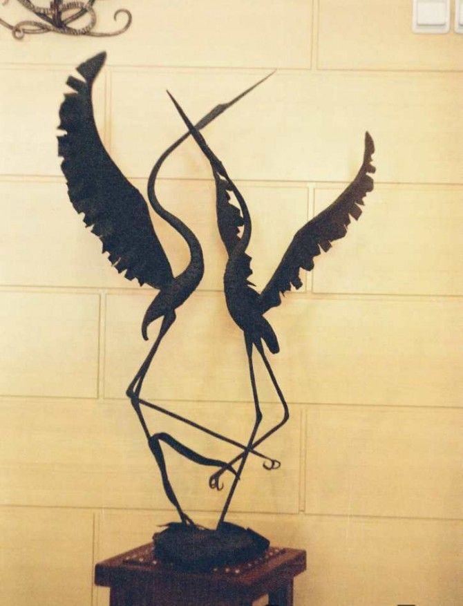 Кованая скульптура №42   * Wrought iron sculpture www.ArtSklad.net