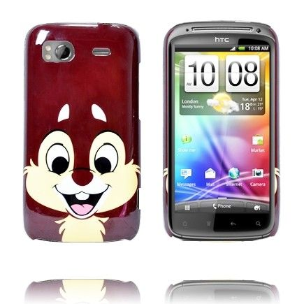 Glad Tegnefilm (Brun Chip) HTC Sensation Cover
