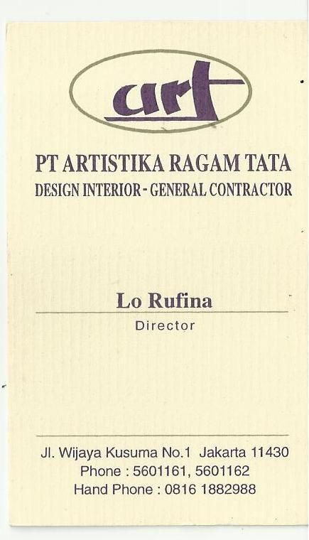 PT. Arsitika Ragam Tata - Lo Rufina